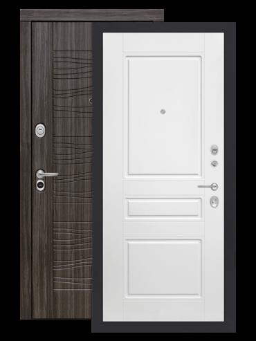 Входная дверь Лабиринт Сканди дарк грей 03 Белый софт