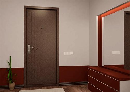 Порошковое напыление входных дверей
