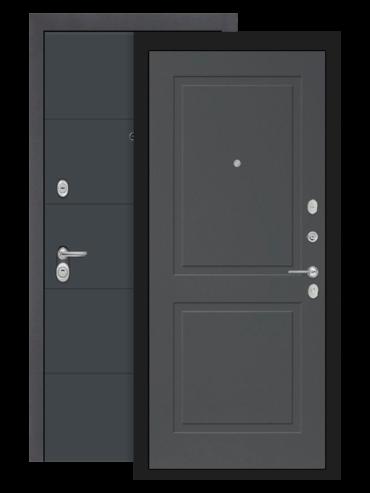 Входная дверь Лабиринт Арт графит 11 Графит софт