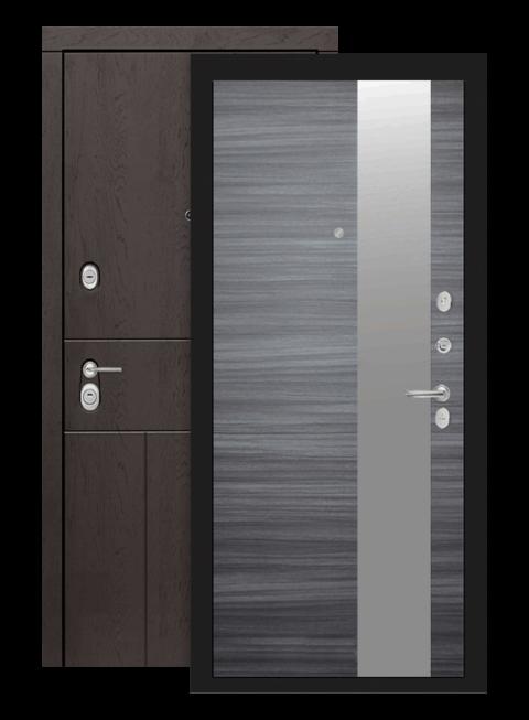 Входная дверь Лабиринт Урбан с зеркалом Сандал серый