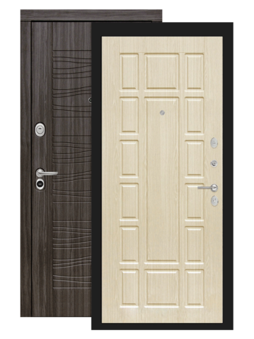 Входная дверь Лабиринт Сканди дарк грей 12 Белёный дуб