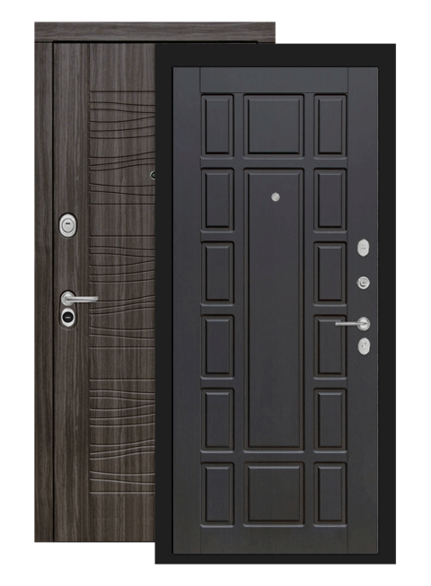 Входная дверь Лабиринт Сканди дарк грей 12 Венге