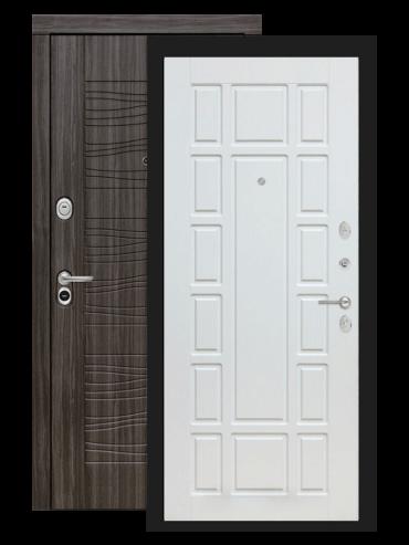 Входная дверь Лабиринт Сканди дарк грей 12 Белое дерево