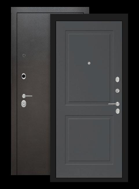 Входная дверь Лабиринт Сильвер 11 Графит софт