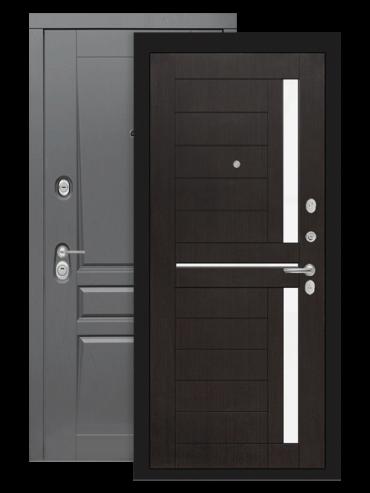 Входная дверь Лабиринт Платинум 02 венге стекло белое