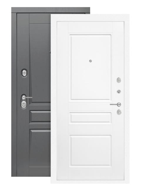 Входная дверь Лабиринт Платинум 03 белый софт