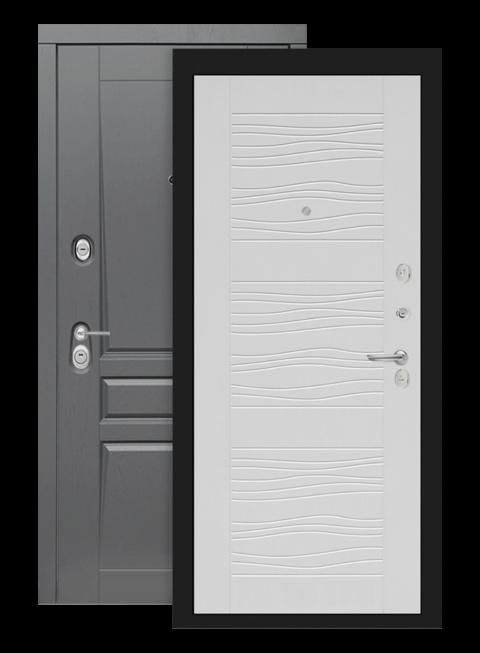 Входная дверь Лабиринт Платинум 06 белое дерево