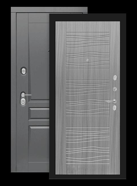 Входная дверь Лабиринт Платинум 06 сандал серый
