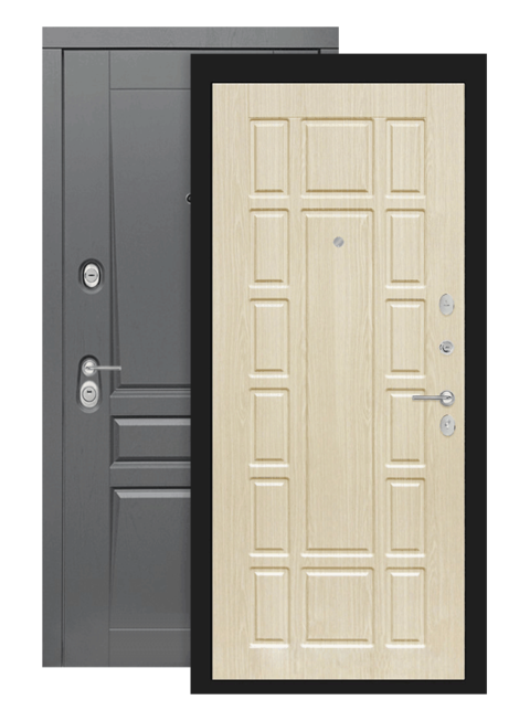 Входная дверь Лабиринт Платинум 12 Белёный дуб