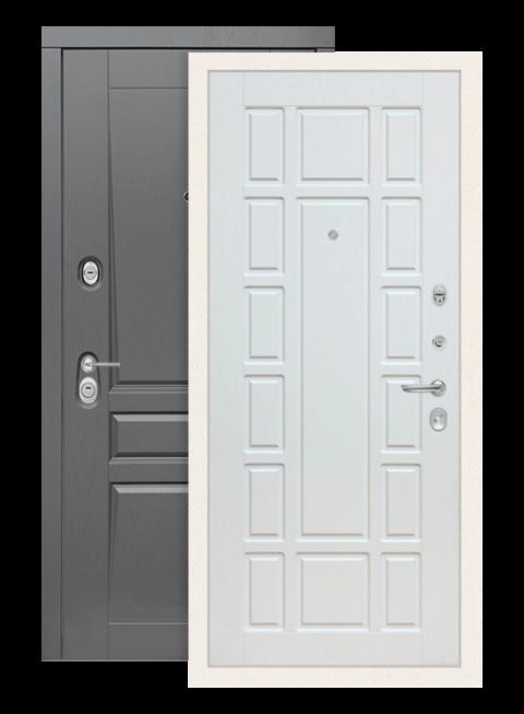 Входная дверь Лабиринт Платинум 12 Белое дерево
