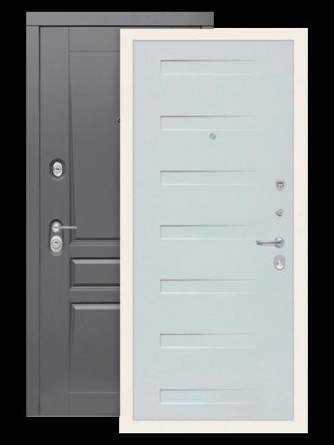 Входная дверь Лабиринт Платинум 14 дуб кантри белый