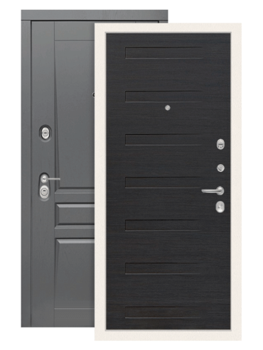 Входная дверь Лабиринт Платинум 14 эковенге поперечный