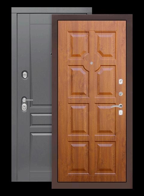 Входная дверь Лабиринт Платинум 17 Голден ОАК