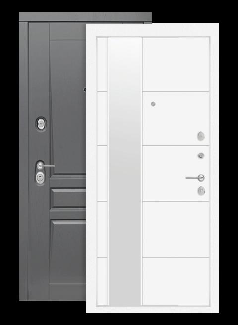 Входная дверь Лабиринт Платинум 19 Белый софт