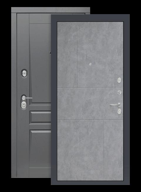 Входная дверь Лабиринт Платинум 21 бетон светлый