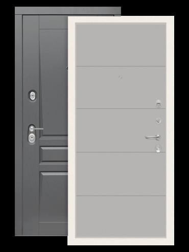 Входная дверь Лабиринт Платинум 13 грей софт